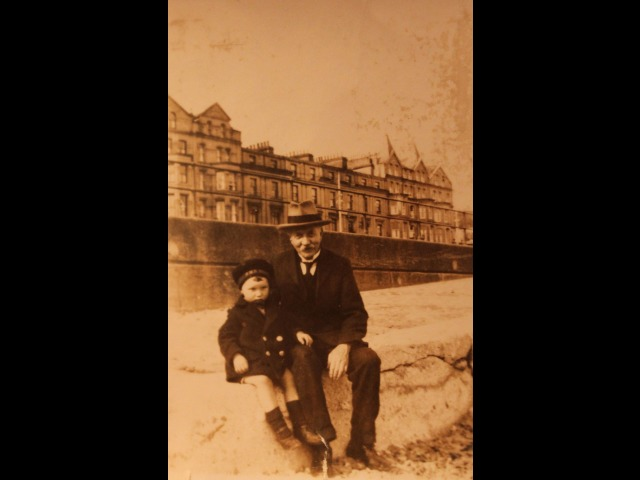 Caleb Shimmin (grandfather) with John Cowell (brother), on Douglas promenade