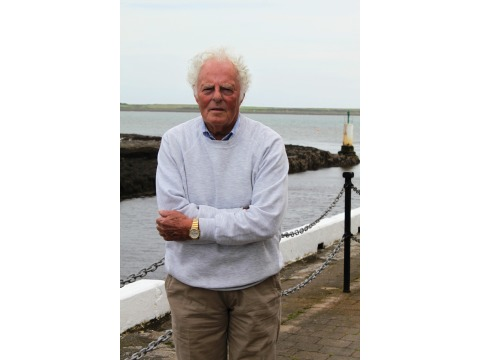 Mr McGowan by Castletown harbour, opposite the back of the Nautical Museum, 2012