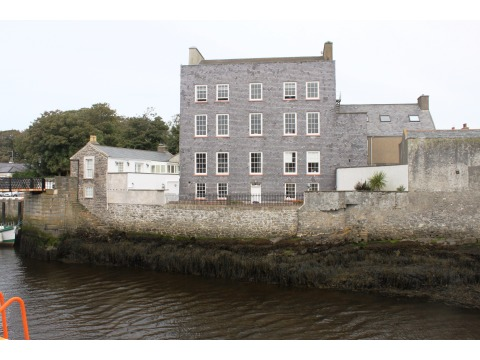 Looking directly over towards Bridge House by Castletown harbour, 2012.