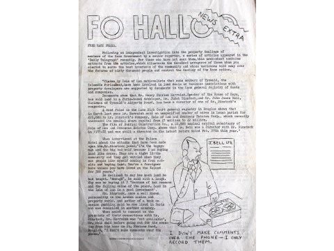Mr Charles Corkill's second wife Annette was involved in the production of the Fo Halloo newsletters
