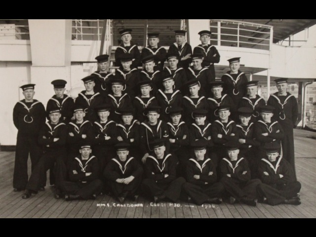 Mr Lionel Taggart on board HMS Caledonia aged 16 years old in 1938.