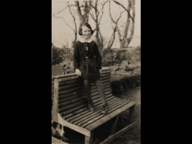 Ann Pickering in the Ballashamrock House garden in the 1930s, at a time when she was just recovering from whooping cough.