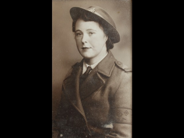 Ann Pickering in the early 1940s, wearing her Land Army uniform.