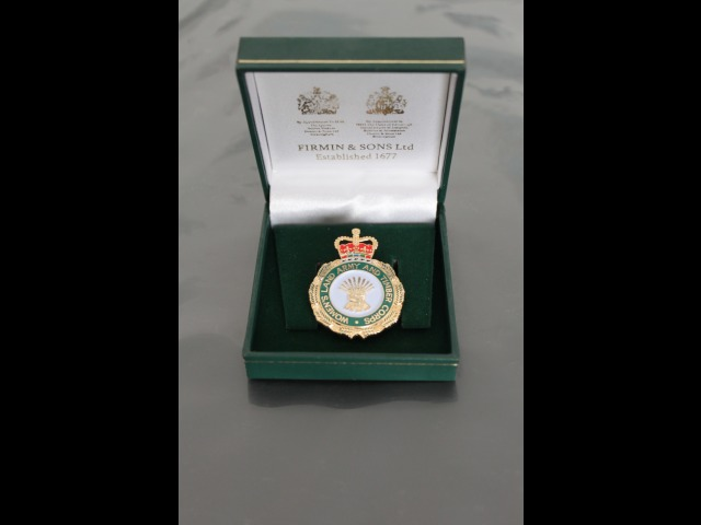 Medal presented to all members of the Women's Land Army & Timber Corps across the British Isles by the British government. This was sent via post to the Manx members.