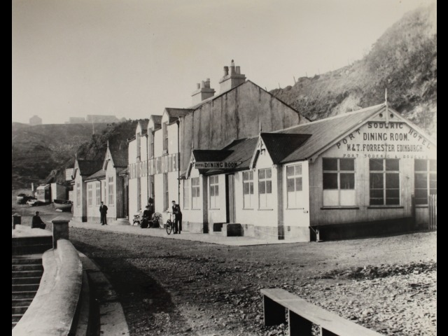 Port Soderick after the building of the sea wall in 1897 but before the building of the veranda.