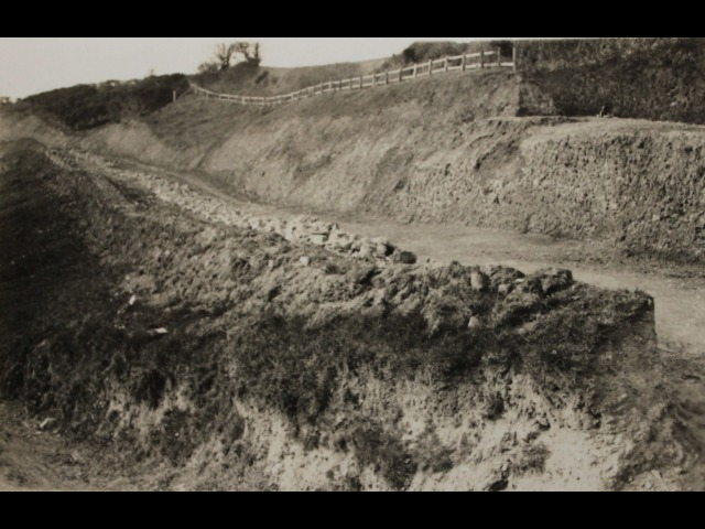 Construction of the new road to Port Soderick in the 1930s. Prior to this, the road was just a single track.