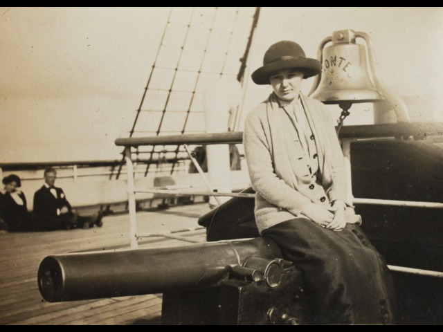 Ann Pickering's mother, Margaret Julia Pickering (nee Forrester). She was the daughter of Thomas Forrester. She is pictured here in a cruise ship in the 1920s.
