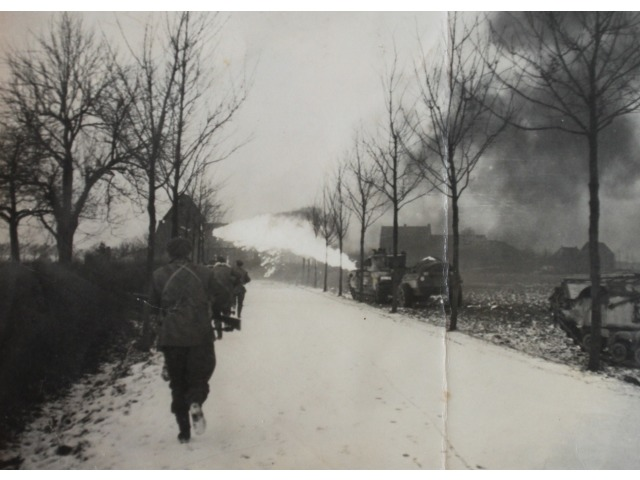 An image from Mr Hector Duff's personal collection, showing the WWII conflict in Europe following D-Day.