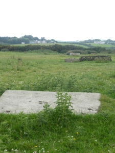 The field next to the current footpath had lots of concrete blocks in it. These were used to support and tether the giant masts that transmitted and received the signals.
