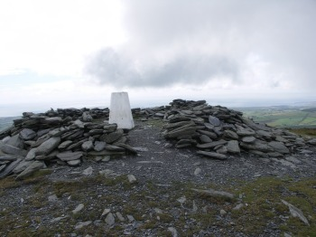 The cairn on the summit.