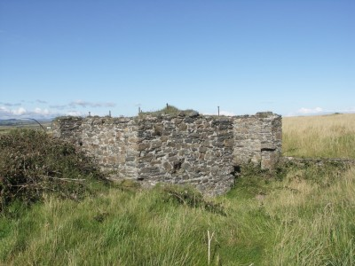 The remains of the buildings associated with the Langness copper mine.